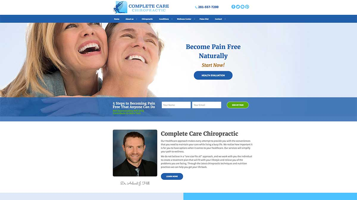 Custom WordPress Website Design and Development with Infusionsoft built for Functional Health