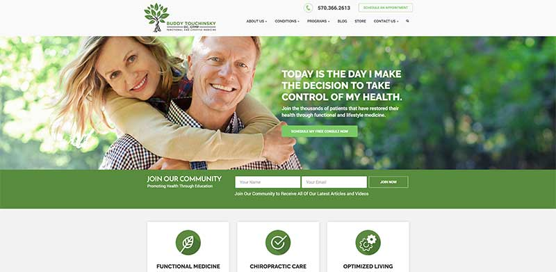 Custom WordPress Design, Development, Support - Functional Medicine Website