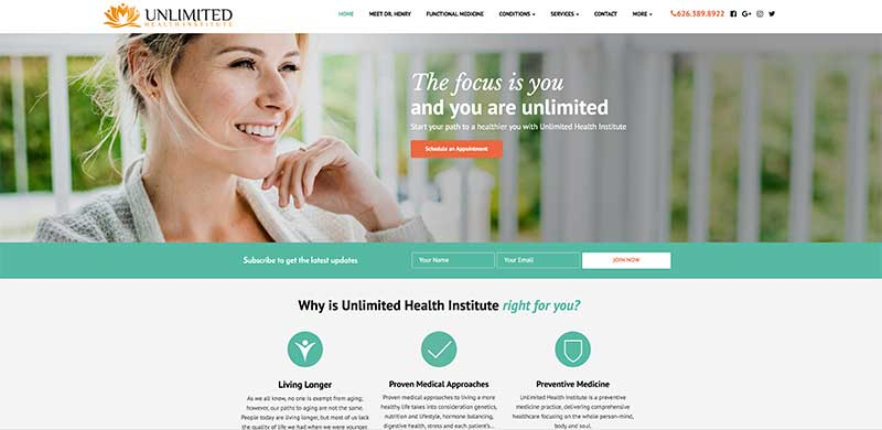 Custom WordPress Website Design and Development - Integrated with ActiveCampaign and ScheduleOnce
