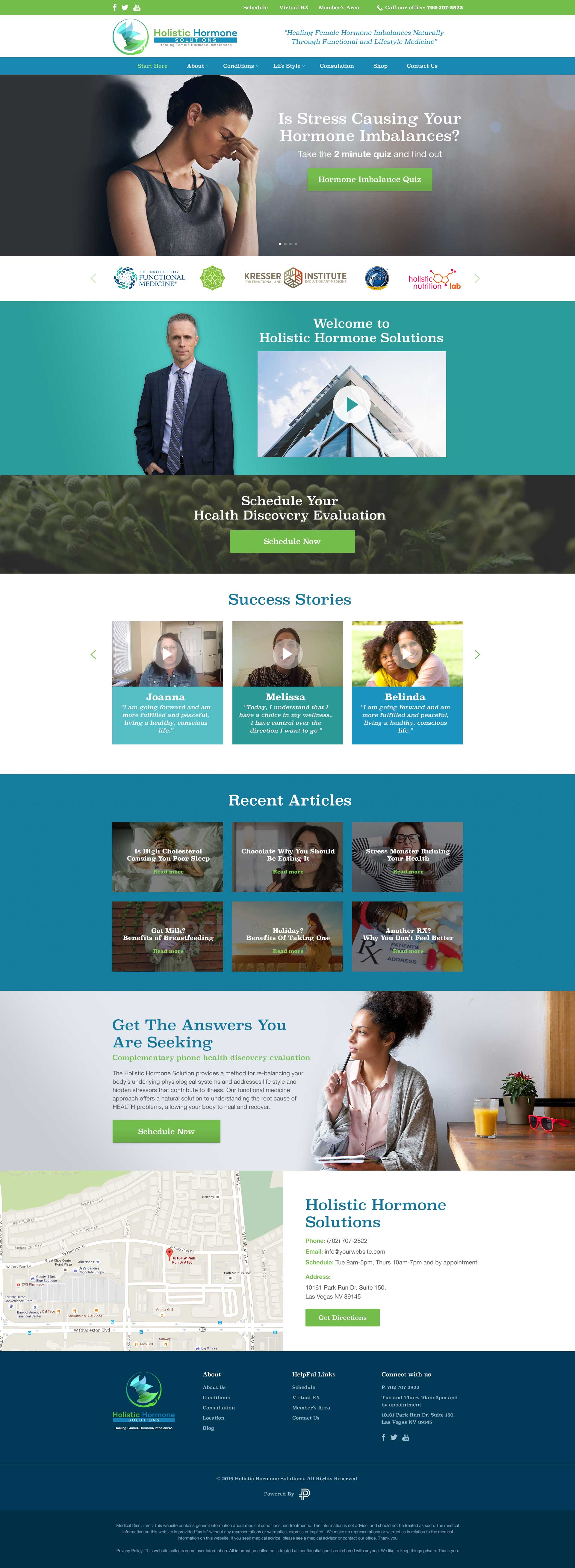 Custom WordPress Design and Development - Functional Medicine Website Design
