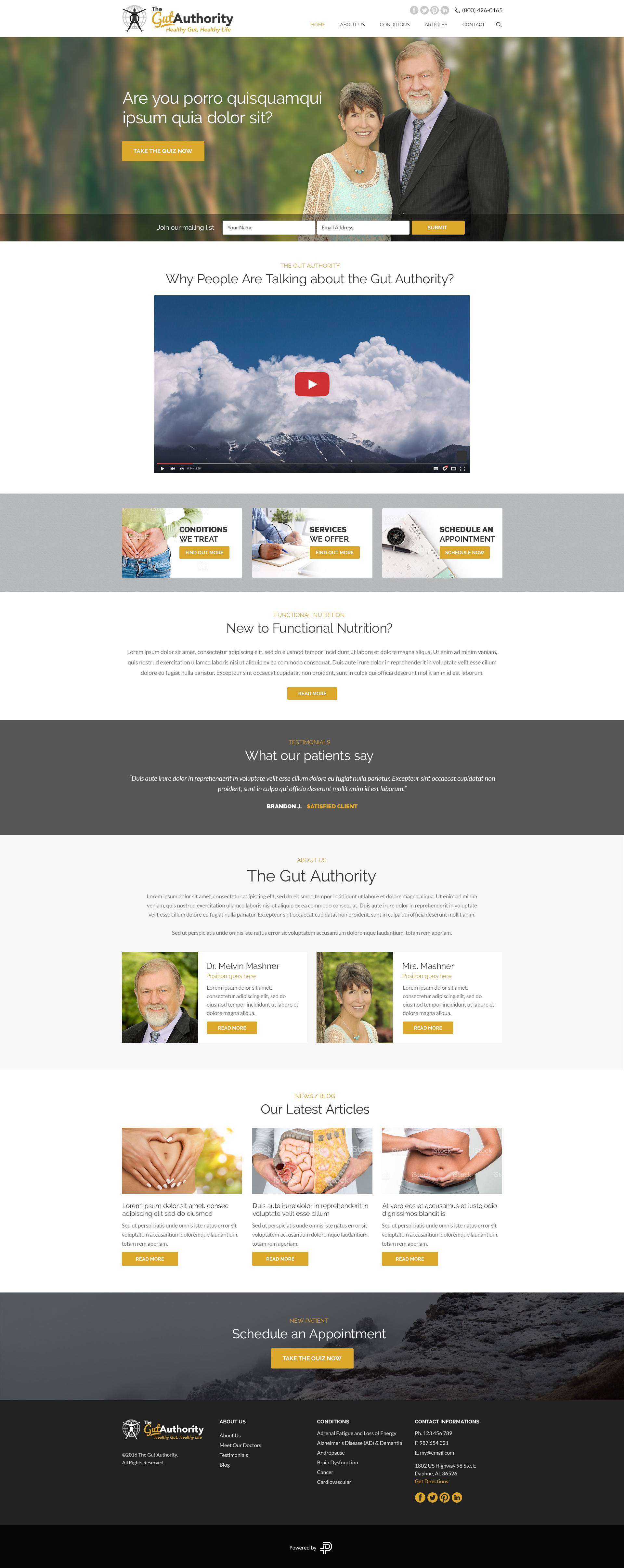 Custom WordPress Website Design, Custom Logo Design, ActiveCampaign Integration