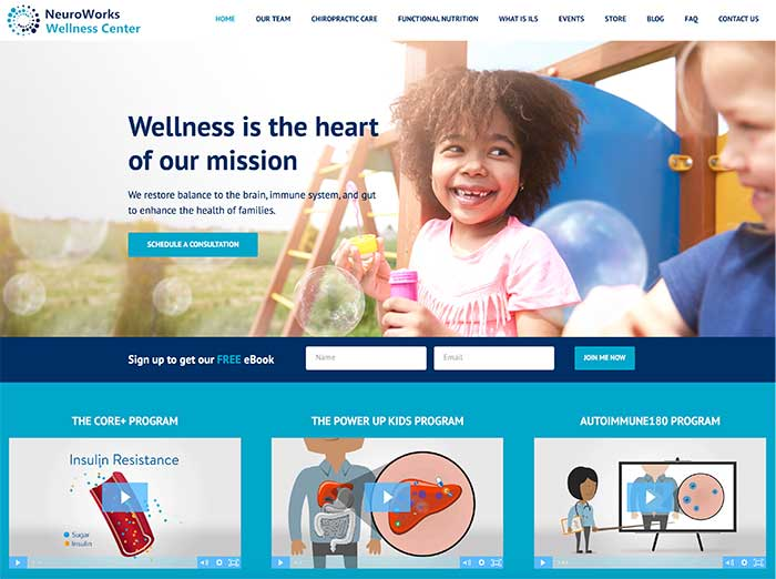 Custom WordPress Health and Wellness Website Design and Development