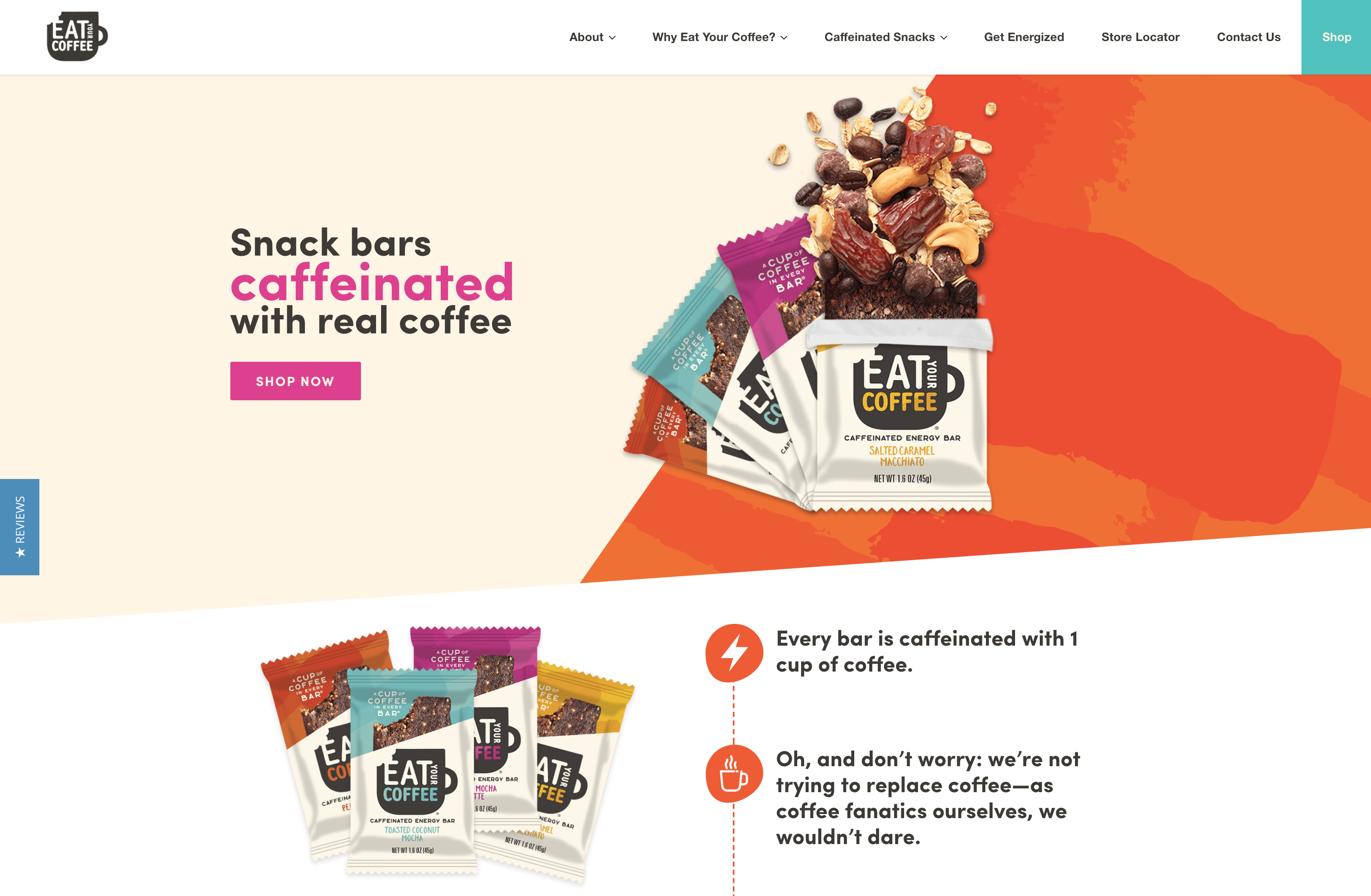 Custom Shopify Website Design - Eat Your Coffee