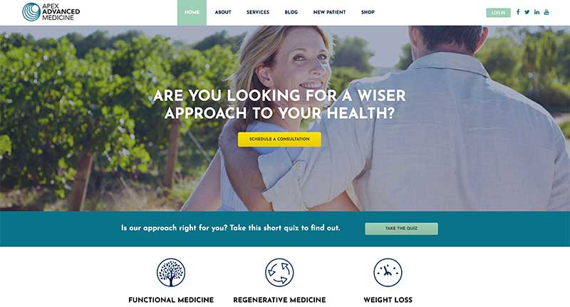 Custom WordPress Design and Development - Functional Health Medicine