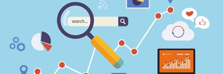 seo search bar cartoon